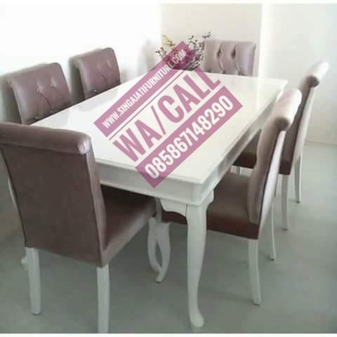 Meja Makan Set Singa Jati Furniture, Meja dan Kursi Makan, Tempat Makan