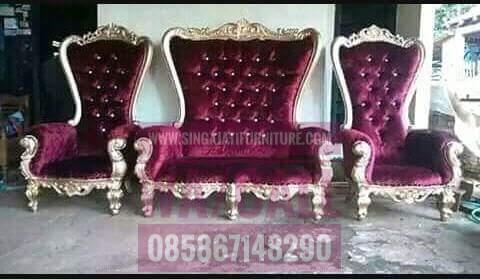 Kursi sofa Singajatifurniture,Furniture Jepara,Kursi Raja, Kursi Pengantin