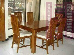 Meja Makan, Kursi dan MEJA Makan, Singa Jati Furniture