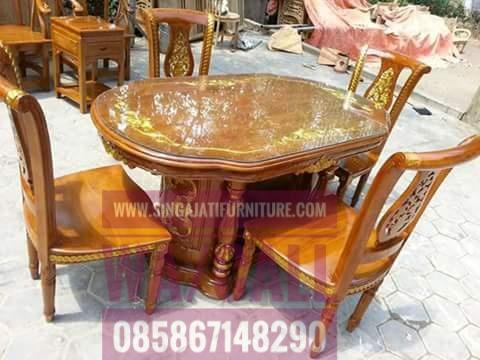 Kursi Makan, Kursi Makan Singa Jati Furniutre, Pusat Furniture Jepara