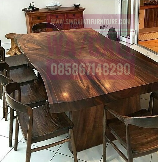 Meja Makan Set Singa Jati Furniture, Kursi Makan, Pusat Furniture Jepara