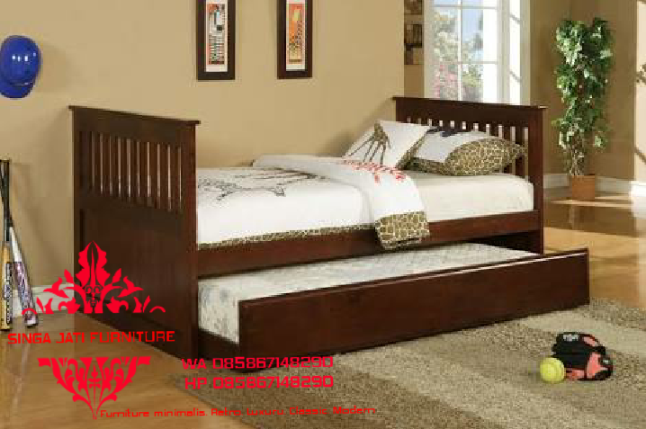 Dipan-Tempat-Tidur-Double-Bed-Singa-Jati-Jepara