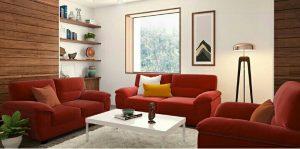 Kursi Tamu Sofa Alora Merah