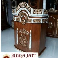 Harga-Mimbar-Masjid-Podium-Minimalis-Ukiran-Kaligrafi