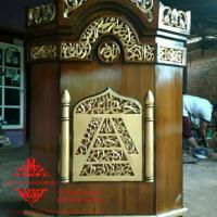 Jual Mimbar Masjid Podium Ukiran Kaligrafi Al qur'an