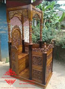 Jual-Mimbar-Masjid-Kubah-Ukiran-Kaligrafil-Lailaha'illallah-14