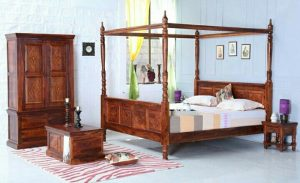 Ranjang Tempat Tidur Kanopi Inoi Singa Jati