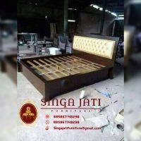 Tempat Tidur Minimalis Kayu Jati Tpk Perhutani Murah