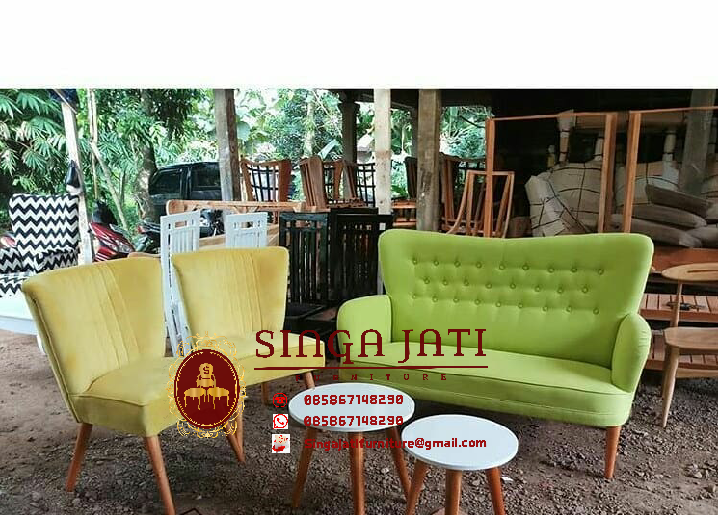 Kursi Tamu Sofa Retro Scandinavia 01 Singa Jati Furniture Jepara
