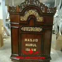 Harga Mimbar Masjid Sederhana Ukiran Kaligrafi Dari Jepara