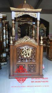 Harga-Mimbar-Masjid-Atap-Kubah-Ukiran-Kaligrafi-Murah