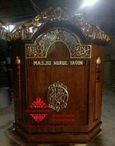 Harga-Mimbar-Masjid-Minimalis-Sederhana-Ukiran-Kaligrafi-01