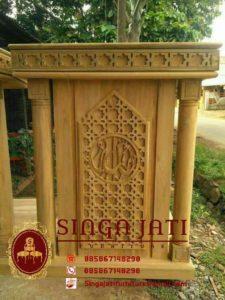 Harga-Mimbar-Masjid-Minimalis-Sederhana-Ukiran-Kaligrafi-Jepara-03