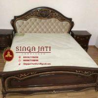 Jual Satu Set Kamar Tidur Eropa Klasik Jati Tpk