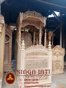 Mimbar-Masjid-Pintu-Samping-Ukiran-Kaligrafi-Jepara
