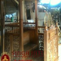 Mimbar Masjid Kubah Model Pintu Samping Murah Ukiran Kaligrafi