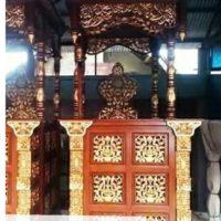 Jual Mimbar Masjid Atap Kubah Ukiran Kaligrafi Murah Di Jepara
