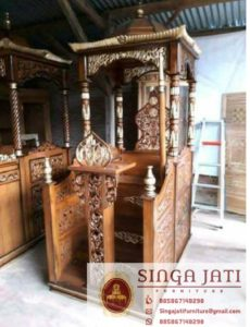 Mimbar-Masjid-Atap-Kubah-Pintu-Depan-Ukiran-01