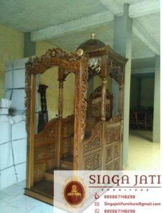Mimbar-Masjid-Atap-Kubah-Pintu-Depan-Ukiran-02