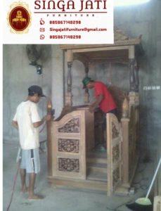 Mimbar-Masjid-Atap-Kubah-Ukiran-Kaligrafi-Pintu-Depan