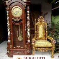 20+ Jual Almari Jam Hias Bandul Ukiran Kayu Jati Harga Murah