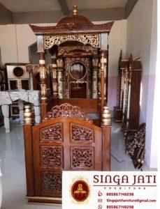Jual-Mimbar-Masjid-Malang-Atap-Kubah-Ukiran-Kaligrafi