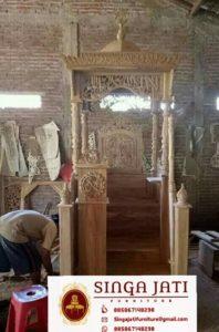 Jual-Mimbar-Masjid-Malang-Atap-Kubah-Ukiran-Kaligrafi-Murah-01 - Copy