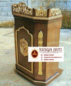 Jual-Mimbar-Masjid-Malang-Ukiran-Kaligrafi-Murah-01