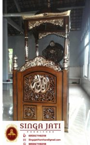 Mimbar-Masjid-Malang-Atap-Kubah-Ukiran-Kaligrafi-01