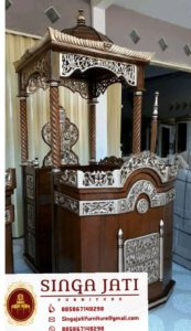 Mimbar-Masjid-Malang-Atap-Kubah-Ukiran-Kaligrafi-02