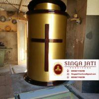 Jual Mimbar Gereja Kayu Jati Harga Murah Berkualitas