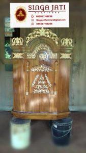 Mimbar-Masjid-Podium-Minimalis-Ukiran-Kaligrafi