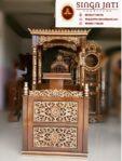 Mimbar Masjid Kubah Jati Full Seni Ukir Asli Kab Jepara Jawa Tengah