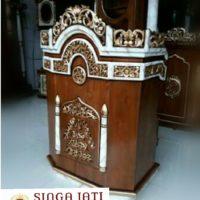 Mimbar Masjid Harga Murah Ukiran Kaligrafi Arab Kayu Jati