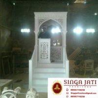 Model Mimbar Masjid Nabawi Atap Kubah Ukiran Jepara