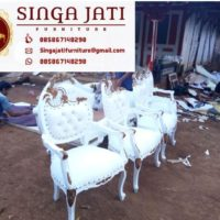 Sofa Decorasi Pelaminan Ukir Kayu Jati Harga Murah
