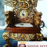 Jual kursi Ukiran Naga Liong Kayu Jati