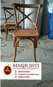 Kursi-Kafe-Back-Cross-Kayu-Jati