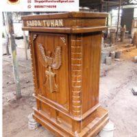 Model Mimbar Gereja Minimalis Modern Murah Kayu Jati