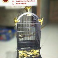 Model Sangkar Burung Berbagai Motif Ukiran Dari Kayu Jati