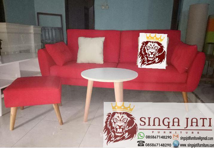 Kursi Tamu Sofa Minimalis Kayu Jati Harga Murah Singa Jati Furniture