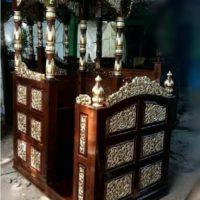 Mimbar Masjid Atap Kubah Model Terbaru Dari Kayu Jati