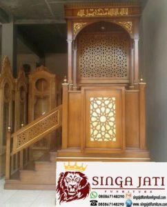 Mimbar-Masjid-Tingkat-Kayu-Jati