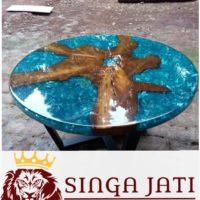 Jual Meja Tamu Resin Kayu Jati Solid Jakarta