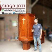 Jual Mimbar Gereja Tingkat Kayu Jati Gereja HKBP Bekasi