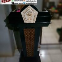 Jual Mimbar Gereja Pentakosta Sion Minimalis Kayu Jati