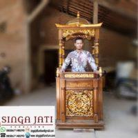 Jual Mimbar Masjid Kubah Ukir Arab Kayu Jati Martapura Kalimantan Selatan
