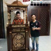 Jual Mimbar Masjid Kubah Ukir Kaligrafi Pekalongan