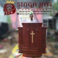 Mimbar Gereja Pentakosta Indonesia Kayu Jati Model Terbaru