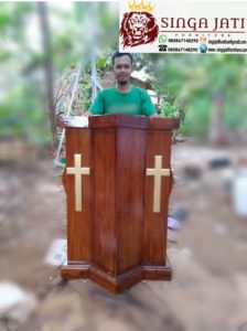 Mimbar-Gereja-Podium-Salib-Kayu-Jati